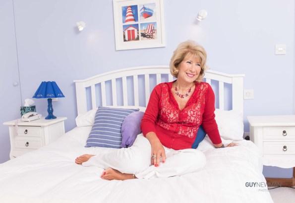 Former BBC Royal correspondent Jennie Bond at home in Devon.
